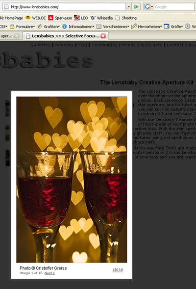 screenshot lensbaby.com 08.02.2007