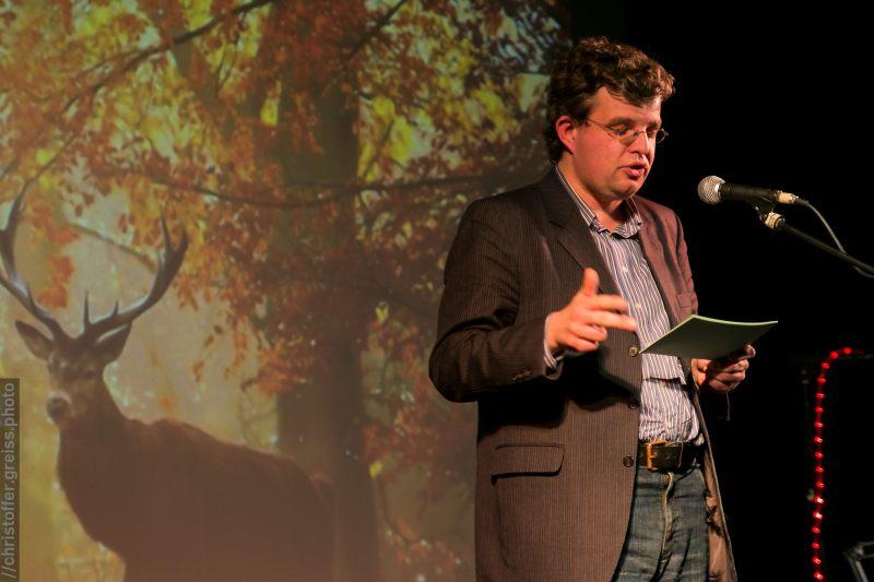 Benjamin Reimers, Poetry Slam Filmhaus Lübeck November 2014. christoffer.greiss.photo