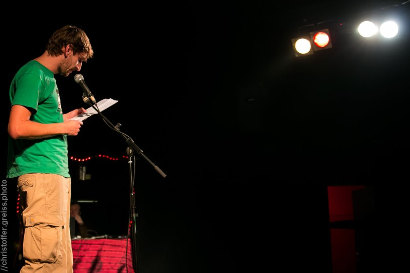 André Bohnwagner, Poetry Slam Filmhaus Lübeck November 2014. christoffer.greiss.photo