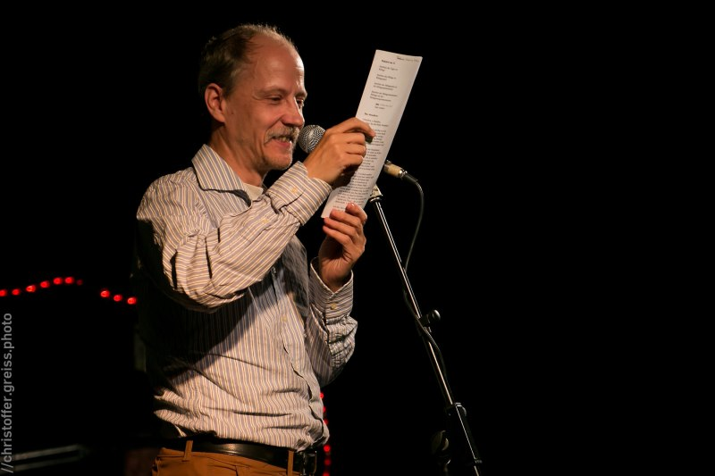 Arne Poeck, Poetry Slam Filmhaus Lübeck November 2014. christoffer.greiss.photo