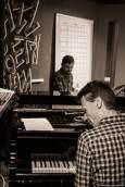 Oliver Sonntag (Drums) & Claas Ueberschär (Piano + Trompete)