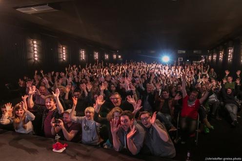 megafakeselfie mit publikum // Poetry Slam 12.03.2016 Lübeck // christoffer.greiss.photo