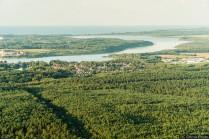 Trave mit Schlutuper Mühlenteich und Ostsee
