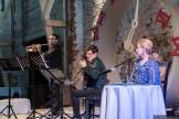 Konzert zur blauen Stunde - Alles hat seine Zeit. Musik: Duo con Spirito (Polychronis Karamatidis – Flöte, Matei Rusu – Gitarre) , Lesung (Heidi Züger), Videoprojektionen (Christoffer Greiß)